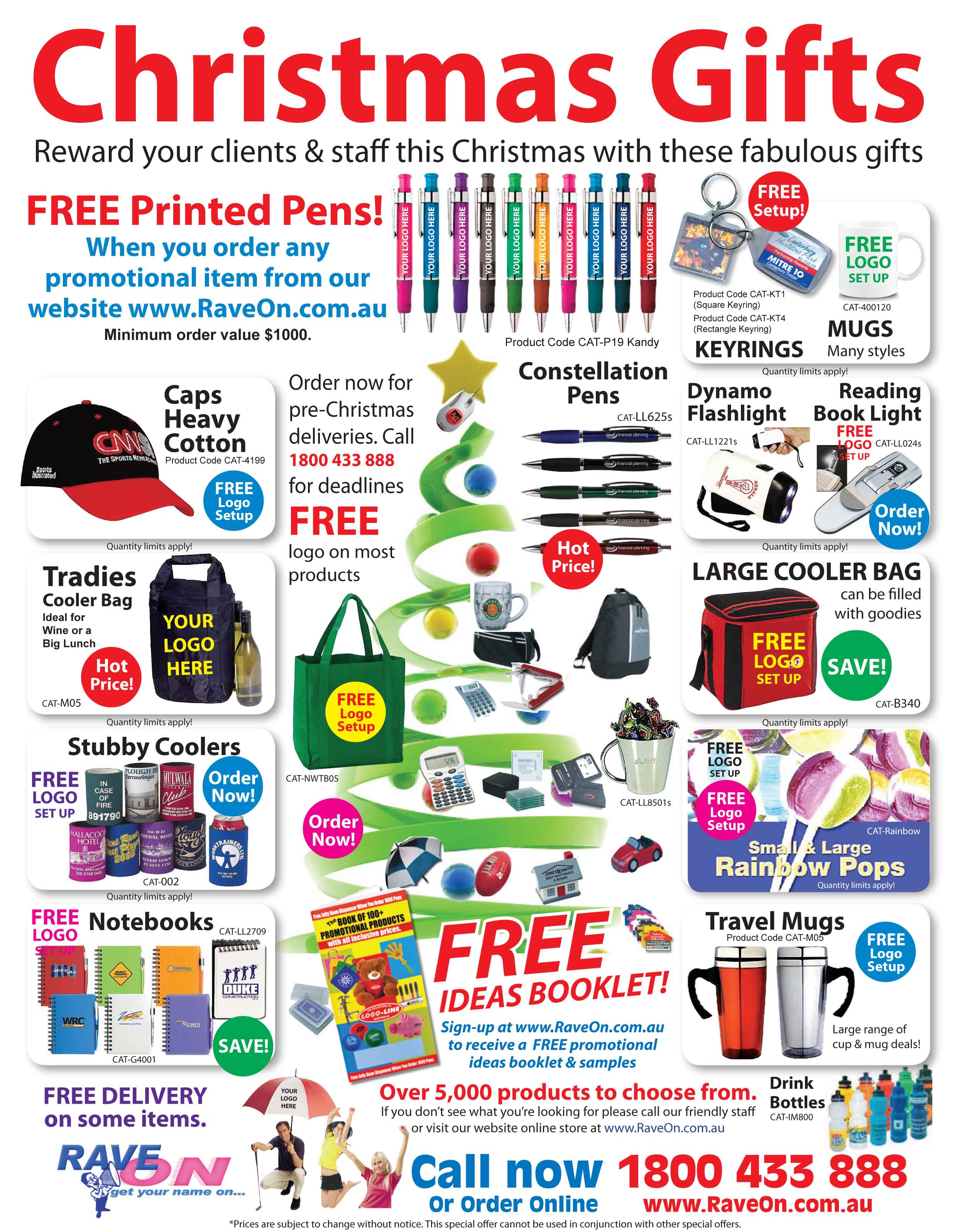 Rave on promotional products newsletter christmas gift